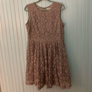Garnet Hill Floral Gray Lace Dress Size 12